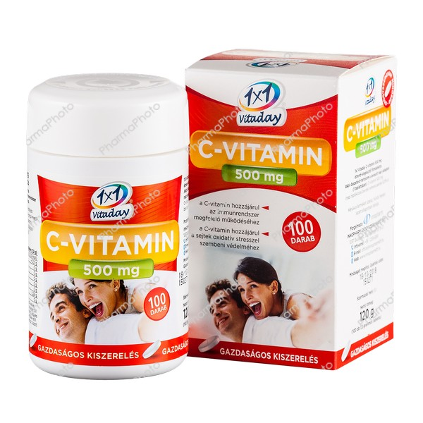 1x1 Vitaday C vitamin 500 mg filmtabletta 100x126179 2016 tn